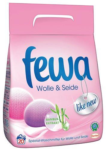 Fewa Wolle & Seide Bambus-Extrakt, Pulver - 6X 20 Waschgänge