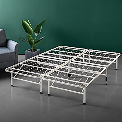 Zinus 14 Inch SmartBase Mattress Foundation/Platform Bed Frame/Box Spring Replacement/Quiet Noise-Free/Maximum Under-bed… - 14 inches high with 13 inches of clearance under the frame for valuable under bed storage space No tools are required, assembles in minutes Best fit for average weight people - bedroom-furniture, bedroom, bed-frames - 51H7QiX3M7L. SS400  -