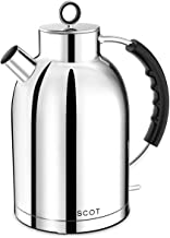 Electric Kettle, ASCOT Stainless Steel Electric Tea Kettle, 1.7QT, 1500W, BPA-Free, Cordless, Automatic Shutoff, Fast Quie...