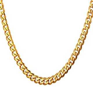 18K Gold Plated Chain 24'' 12MM Wide Curb Cuban Link Chain Figaro Snake Hip Hop Turnover Chain Necklace for Men and Women,Gift For Halloween