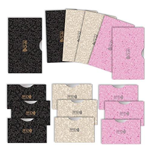 LOE カードケース RFID 磁気 スキミング 防止 クレカ & 通帳 サイズ (ポリゴン柄 3色セット)