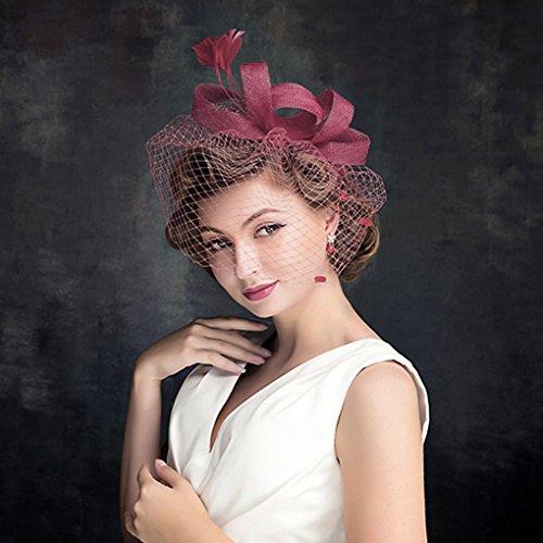 Peluquería Bibi velo pluma Voilette fascinants sombreros de boda con