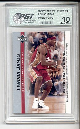 LeBron James 2003 PGI 10 PHENOMENAL BEGINNING #8 rookie card
