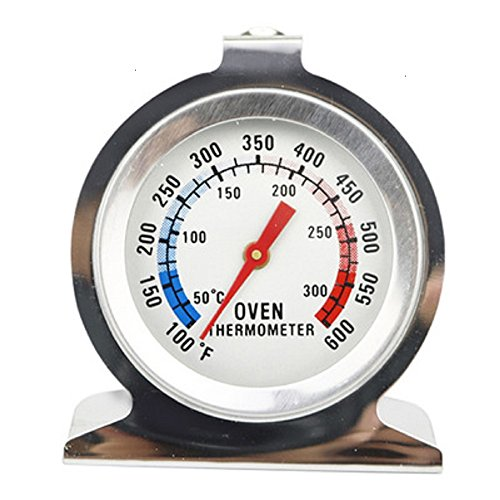 Oven Thermometer, RVS Oven Monitoring Thermometer, 100 tot 600 Graden F Temperatuur Bereik