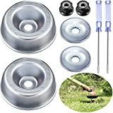 8 Pieces Weed Grass Blade Adapter Gardening Machine Lawnmower Blade Adapter Kit Include Thrust Washer Rider Plate Collar Nut Screwdriver Compatible with Stihl String Trimmers Brush Cutter