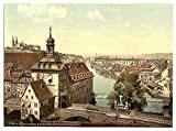 Photo Court house Bamberg Bavaria A4 10x8 Poster Print