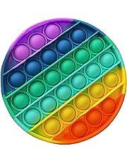 Push Pop Pop Bubble Pop It Fidget Toy,Unique Shape Sensory Fidget Toys - Heart/Bunny/Bear/Flower, Extrusion Bubble Fidget Sensory Toy,Multicolor