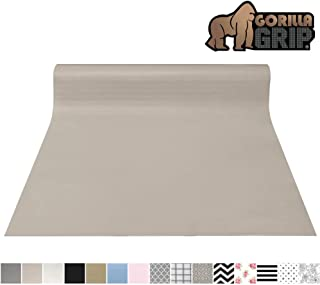 Gorilla Grip Original Smooth Top Slip-Resistant Drawer and Shelf Liner, Non Adhesive Roll, 17.5 Inch x 10 FT, Durable Kitchen Cabinet Shelves Liners for Kitchens Drawers and Desks, Taupe