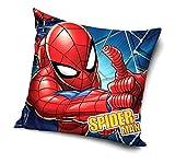 PawPatrol Nickelodoen Funda de cojín para niños con estampado por ambos lados, sin relleno, a elegir: Spiderman, Batman, Star Wars, Vengadores, Transformers, Superman, 40 x 40 cm (Spiderman)