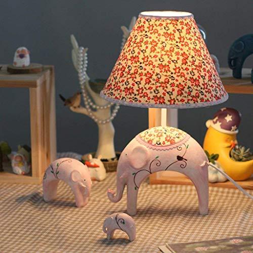 BXU-BG Lámparas de mesa, dormitorio Personalidad simples for niños Lámparas de mesa, el estudio de la manera creativa del elefante del bebé de la lámpara, lámpara de cabecera del interruptor regulable