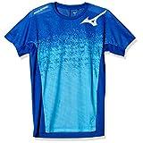 [Mizuno] バレーボールウェア プラクティスTシャツ 半袖 V2MA0111 サーフブルー 日本 XL (日本サイズXL相当)