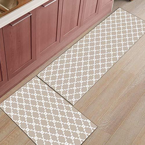 HLXX Geometry Diamond Simple Felpudo Entrada Puerta de Entrada Alfombra Baño Cocina Sala de Estar Alfombra Antideslizante Alfombrillas A4 50x80cm