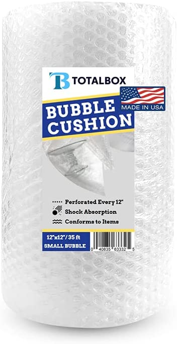 TotalBox Bubble Cushioning Max 45% OFF Wrap Roll 12 ft 1 Pack inches x 35 Trust