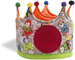 Micumacu- Superhéroes Corona cumpleaños, Color gris (Petit