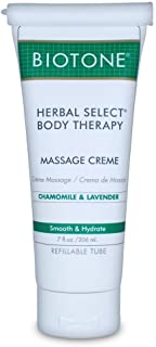 Biotone Herbal Select Massage Products Body Therapy Creme, 7 Ounce