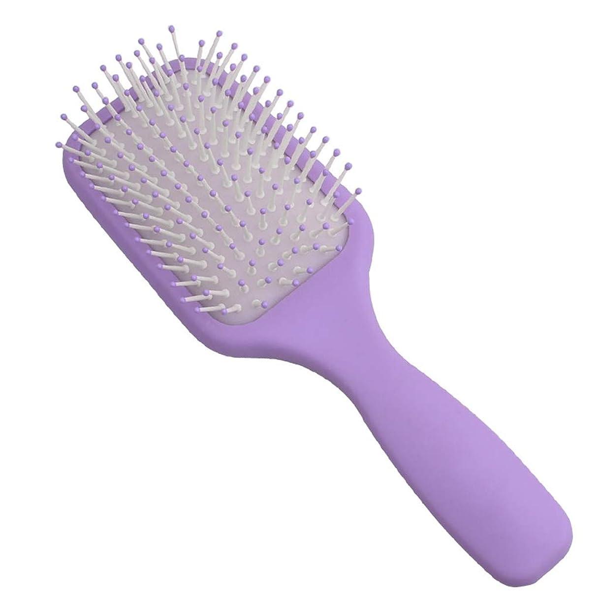 ペチュランス彼らのもの小石くし児童エアバッグエアクッションコームマッサージヘッドメリディアンコームヘアコームヘアコームくしホームビッグくし (Color : Purple)