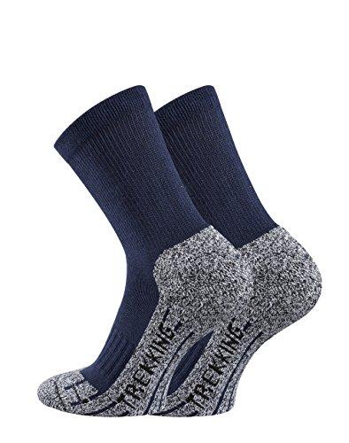TippTexx24 Trekkingsocken, 6 Paar Trekking Socken Coolmaxsocken, Marine, 39/42