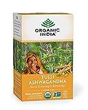 Organic India Calming Tulsi Herbal Tea Favorites - Ashwagandha, Honey Chamomile, Sleep - Adaptogen, Vegan, Gluten-Free, USDA Certified Organic, Non-GMO - 18 Infusion Bags