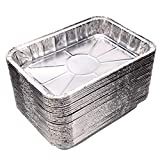 Toaster Oven Pans (20-Pack) - Disposable Aluminum Foil Toaster Oven Pans; fits all standard sized toaster ovens, Size - 8 1/2' x 6'