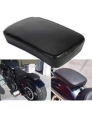 OSAN Ventosa para Pasajero-Cojín Rectangular Harley Custom Chopper, Color Negro