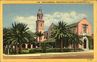Peace Memorial Presbyterian Church Clearwater, Florida Original Vintage Postcard