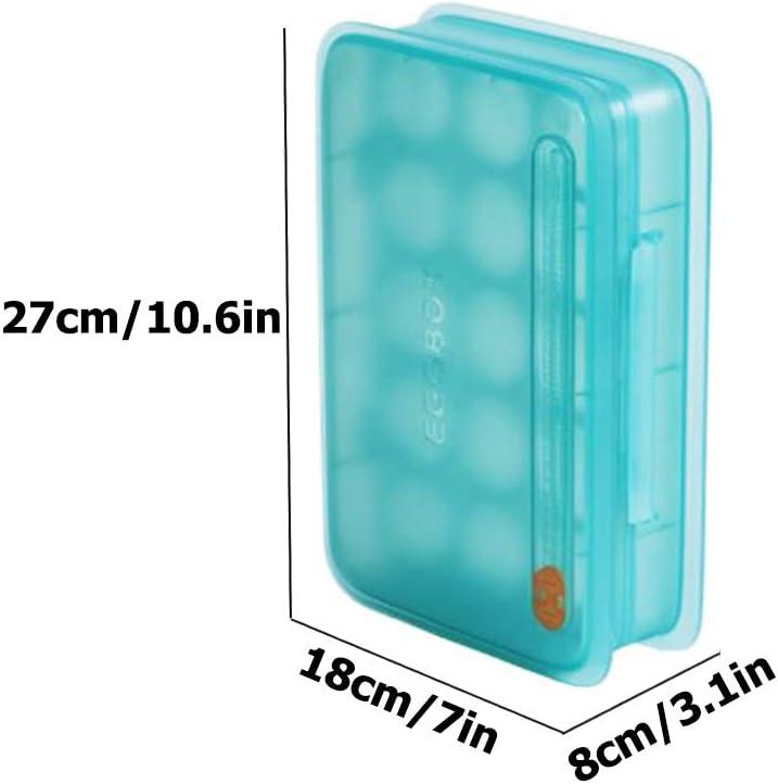 Caja de almacenamiento para huevos con escala de tiempo para guardar 15 cajas de huevos selladas para guardar huevos naranja