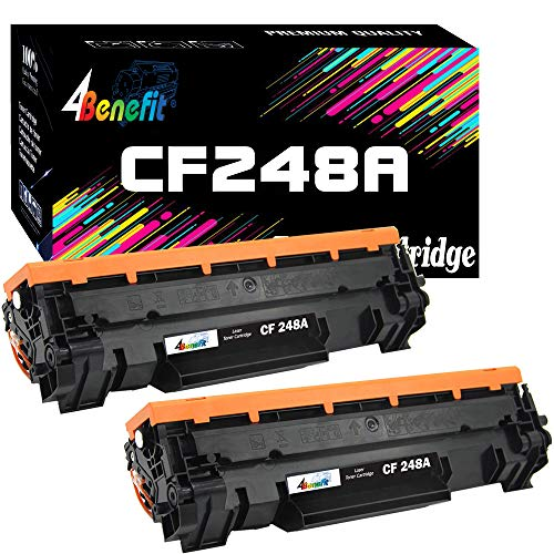 4Benefit Compatible Toner Cartridge Replacement for HP 48A 248A CF248A to Used for HP Laserjet Pro M15w M15a M16a M16w MFP M29w MFP M29a MFP M28w MFP M28a Printer (Black, 2-Pack)