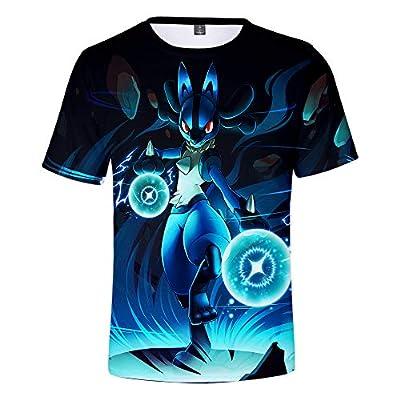 Pikachu Camisetas Manga Corta Niño Niña 3D Impresión Camiseta Verano Casual Suelto Camisas tee Shirt O-Cuello Blusa Deportiva Tops (3,140) por