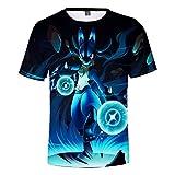 Pikachu Camisetas Manga Corta Niño Niña 3D Impresión Camiseta Verano Casual Suelto Camisas tee Shirt O-Cuello Blusa Deportiva Tops (3,140)