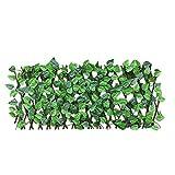 Pannelli per recinzione, recinzioni decorative, griglia estensibile, recinzione retrattile, con foglie di edera artificiale, recinzione, protezione dai raggi UV, per interni ed esterni