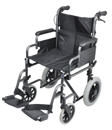 Aidapt Swallow Deluxe Attendant Propelled Steel Wheelchair (Eligible for VAT relief in the UK)