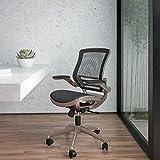 Flash Furniture Mid-Back - Silla de Malla con Marco de Color...