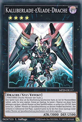 Konami - MP20-DE117 - Kalliberlade-Exlade-Drache - Super Rare - Yu-Gi-Oh! - Deutsch - mit GECO® Versandschutz