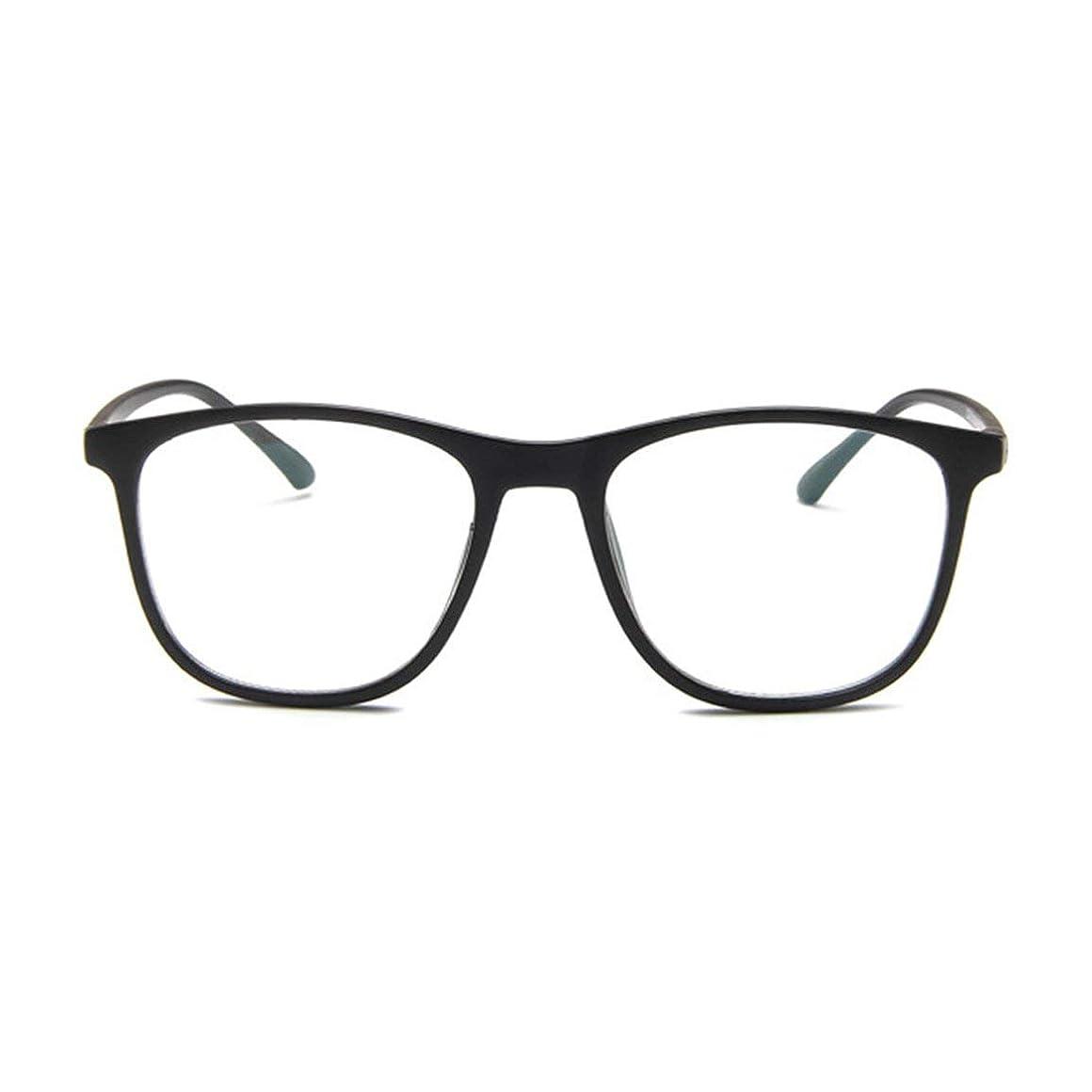 すみません王位ドライ韓国の学生のプレーンメガネの男性と女性のファッションメガネフレーム近視メガネフレームファッショナブルなシンプルなメガネ-マットブラック