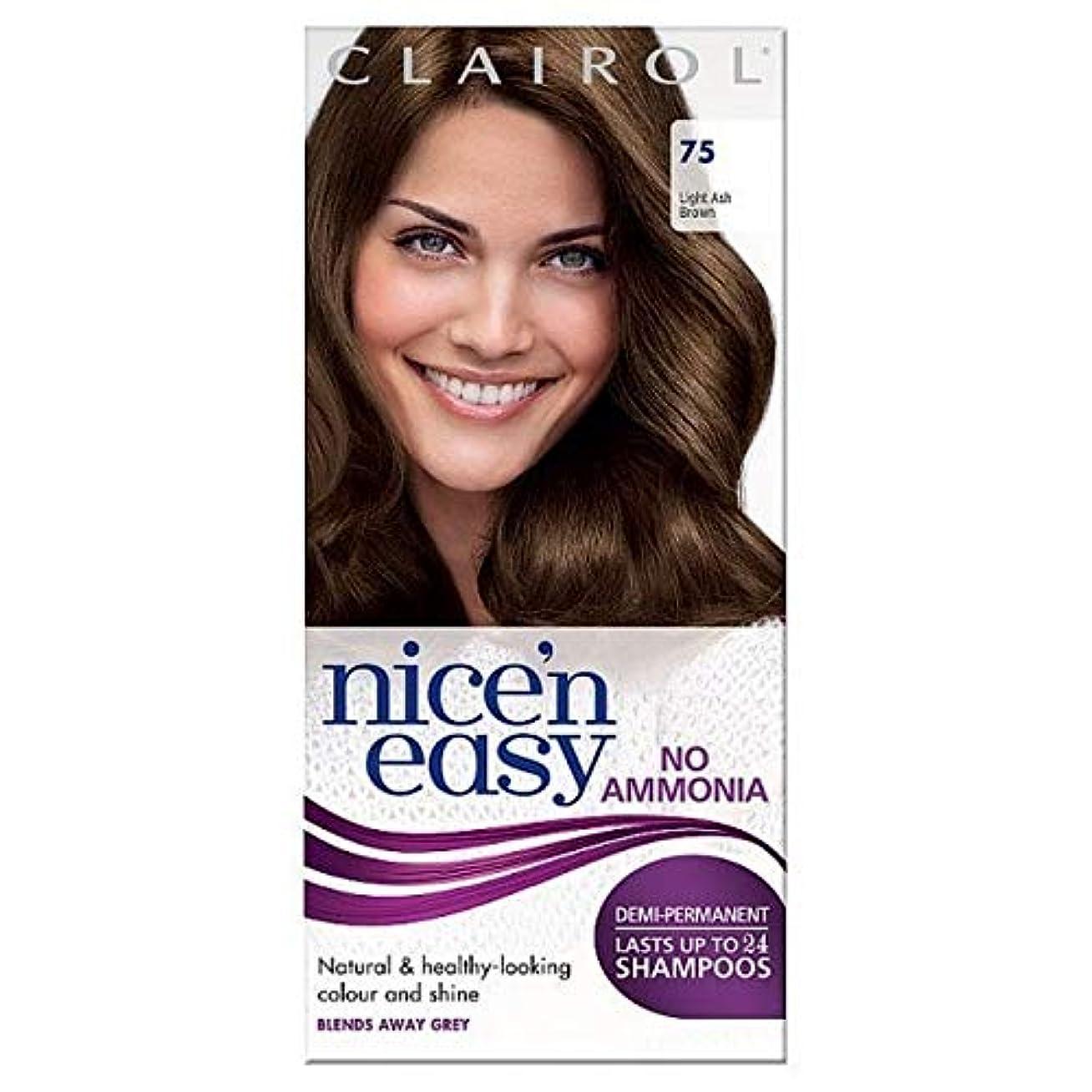 火山学者微妙セント[Nice'n Easy] Nice'N簡単に何のアンモニアの染毛剤光アッシュブラウンません75 - Nice'n Easy No Ammonia Hair Dye Light Ash Brown 75 [並行輸入品]