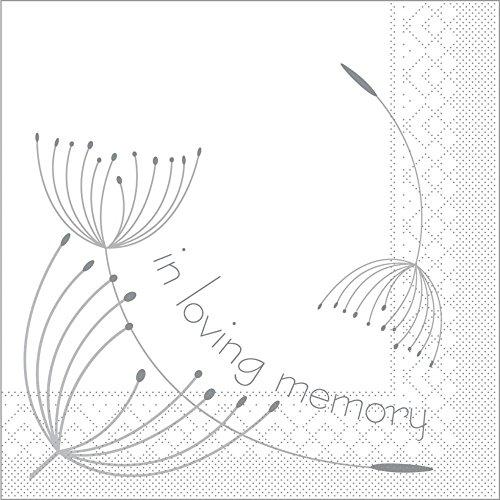 Sovie HORECA Serviette In Loving Memory | Tissue 33x33 cm | Erinnerung Trauer Schmerz | 100 Stück
