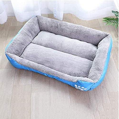 CVXCVCBCG waterdichte woonkamer bank honden huisdier bed voor katten en kleine honden medium rechthoek cuddler pet Supplies Lake Blue