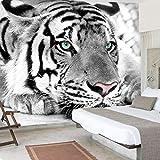 Papel Pintado FotomuralTigre Animal Tejido-No Tejido Decoración De Paredes Moderna Para Dormitorio Despacho Salón 140CMx100CM