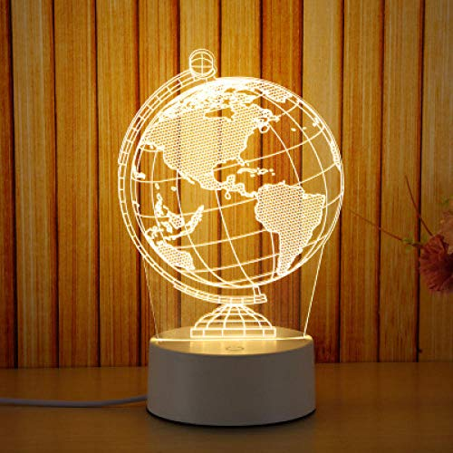 lámpara de mesa 3D de luz nocturna LED lámpara de mesita