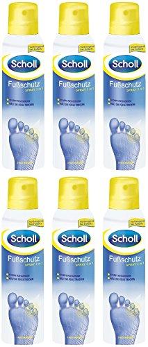 Scholl Fußschutzspray 2in1 Fußpilz Fußpflege Fußhygiene Fußgeruch 6er Pack (6 x 150ml)
