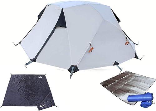 Jkl000 Tente de Camping en Plein Air, 3-4 Personnes, Tissu Oxford, écran Solaire Résistant à La Pluie, Approprié à La Randonnée Pédestre sur Le Terrain de Gazon de Picnic Beach Park