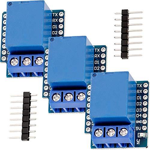 AZDelivery 3 x 1-Relais Shield für D1 Mini kompatibel mit Arduino inklusive E-Book!