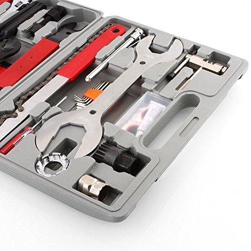 Femor Fahrrad Werkzeugkoffer 48tlg Fahrrad Werkzeug Set, Fahrradwerkzeug für Fahrrad Montagearbeiten und Reparaturen, Fahrrad Werkzeugset mit Tragekoffer und Multitool - 5