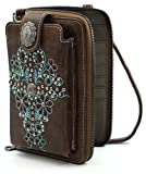 Montana West Crossbody Cell Phone Purse For Women Western Style Phone Bags Travel Size With Strap MWUSA-PHD-113CF