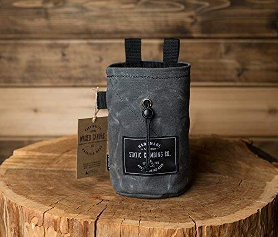 STATIC Waxed Canvas Chalk Bag | Gunpowder (Made in the USA)