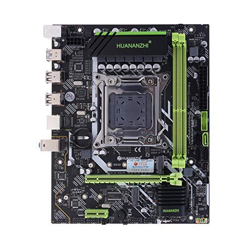 SUCHUANGUANG Placa Base Huananzhi X79 LGA 2011 USB3.0 SATA3 Compatible con Memoria REG ECC y módulo de Placa Base del procesador Xeon E5