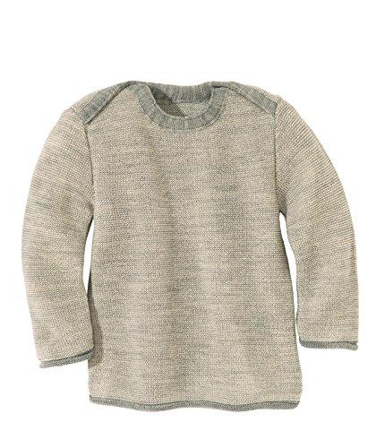 Disana 31311XX - Melange-Pullover Wolle grau/natur, Size / Größe:62/68 (3-6 Monate)