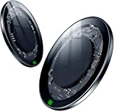 2 Pack Wireless Charger, 15W Max Fast Wireless Charging Pad Ultra Slim for iPhone 12,12 Pro, 11, 11 Pro, 11 Pro Max, Xs Max, XR, XS, X, 8 Plus, AirPods, (No AC Adapter) (2 Pack)