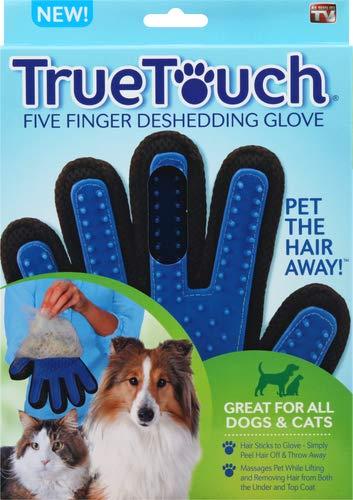 True Touch Five Finger Deshedding Glove- Premium...