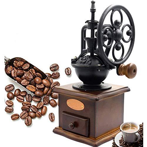 BG & MF Handmatige koffiemolen, antiek gietijzer, handmolen, koffiemolen met grind instellingen & Catch lade 13 x 13 x 27 cm